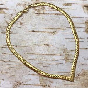 Joan Rivers gold chain chevron necklace